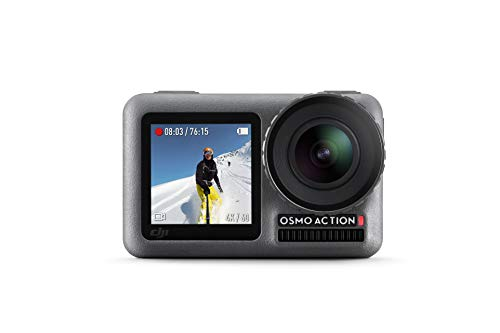 DJI Osmo Action Cam – Cámara digital con 11m Pantalla dual Resistente al agua 4K HDR-Video 12MP 145 ° Cámara angular…