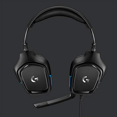 Logitech G432 Auriculares Gaming con Cable, Sonido Surround, DTS Headphone X 2.0, Transductores 50mm, USB y Jack Audio 3…